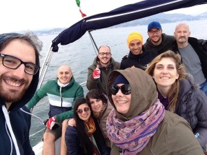 "The first sailing weekend for the full ""OT communication & Friends"" Team"